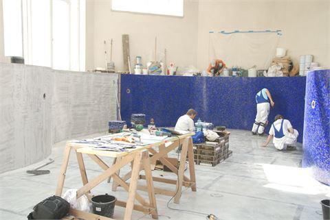 Projekt Schwimmbadbau / Verfliesungsarbeiten