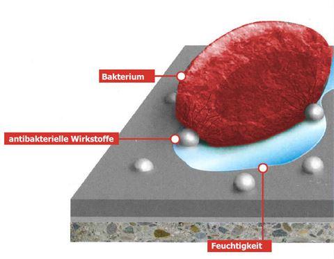Antibakterielle Oberflächen für Boden und Wand