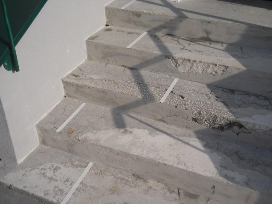 Treppensanierung: vorher
